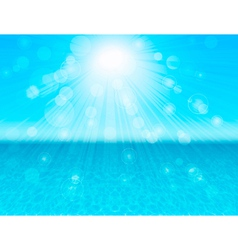 Blue sea abstract background vector