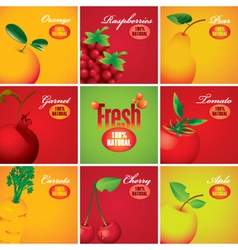 Fruits and berries vector