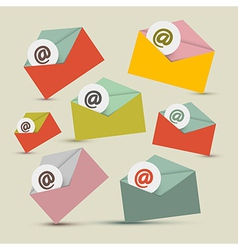 Envelopes - e-mail icons set vector