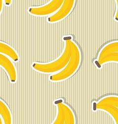 Banana pattern seamless texture with ripe bananas vector