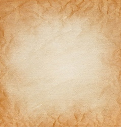 Brown canvas with the texture of crumpled paper vector