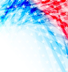 Abstract american flag for independence day vector