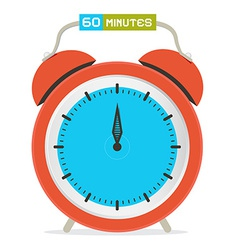 60 - sixty minutes stop watch - alarm clock vector
