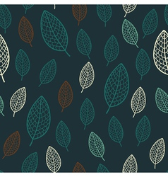 Dark stylish floral seamless pattern vector