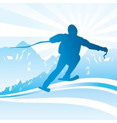 Ski and sport background vector