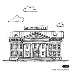 University building vector