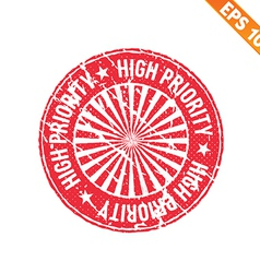 Rubber stamp high priority - - eps10 vector
