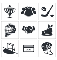 Hockey icon collection vector