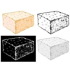 Bath sponge vector