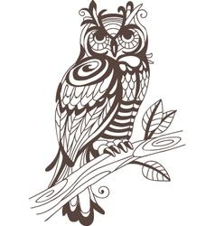 Wood owl vector