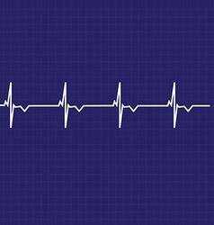 Ekg line vector