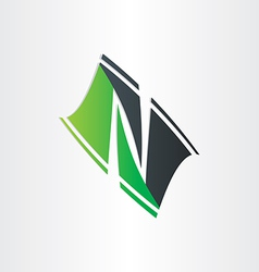 Letter n stylyzed icon design vector
