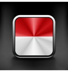 Indonesia icon flag national travel icon country vector