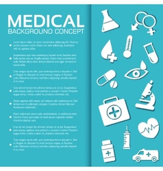 Flat medical equipment set icons concept vector