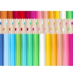 Colored pencils background eps 10 vector