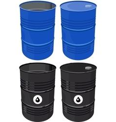 Set full barrel oil isolated vector