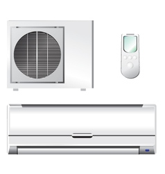 Air conditioner set vector