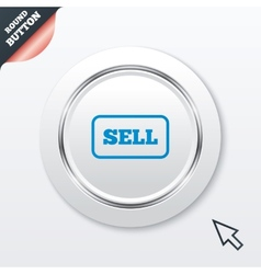Sell sign icon contributor button vector