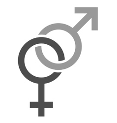 Chained gender signs vector