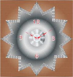 Diamond clock vector
