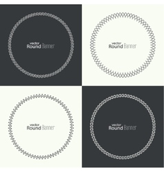 Set of round banners vector