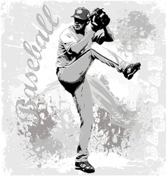 Baseball pitcher vector