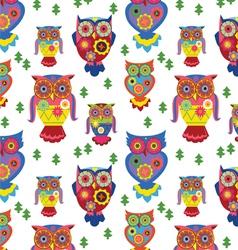 Seamless owls pattern 2 vector