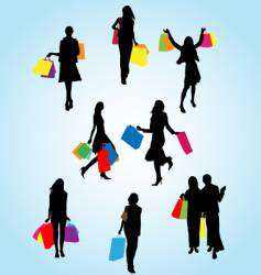 Woman shopping vector