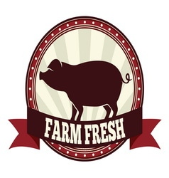Farm fresh pork resize vector