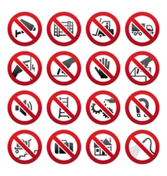 Industrial prohibited symbols vector