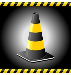 Traffic cone background vector