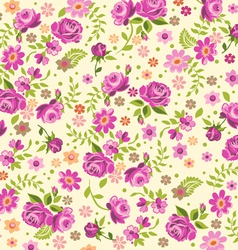 Cream rose background vector