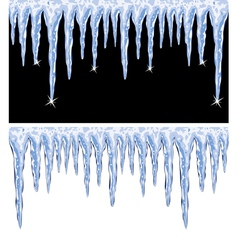 Shiny icicles vector