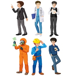 Men with different works vector