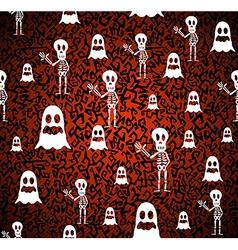 Happy halloween elements seamless pattern vector