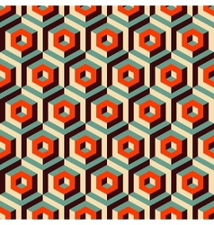 Seamless abstract 3d background with hexagonal vector