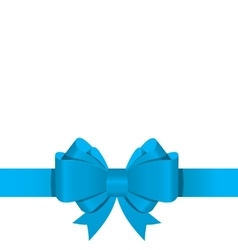 Gift bow with ribbon vector