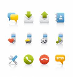 Communications icons vector