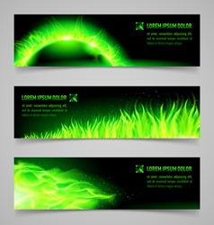 Fire banners vector