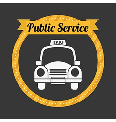 Taxi service vector