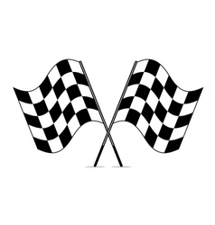 Racing checkered flags vector