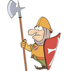 A cartoon knight vector