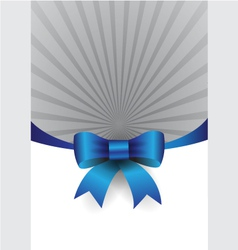 Blue ribbon design element vector