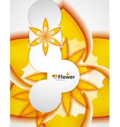 Abstract orange flowers background vector