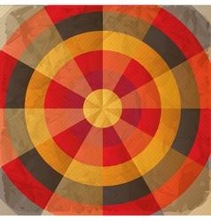 Vintage paper target vector