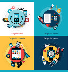 Wearable technology set vector