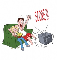 Couple sofa sports vector