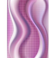 Wavy crimson purple gradient mesh vector