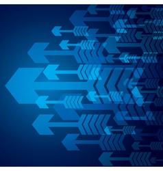Blue arrow background stock vector