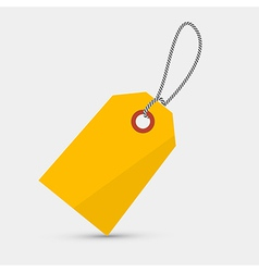 Empty yellow label tag with string vector